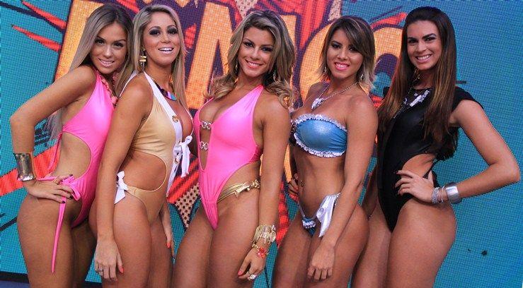 Carol, Narizinho, Babi, Thaís e Renata