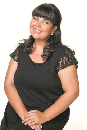 A atriz Fabiana Karla