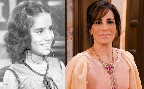 Gloria Pires aos 8 anos da idade, quando estreou na TV