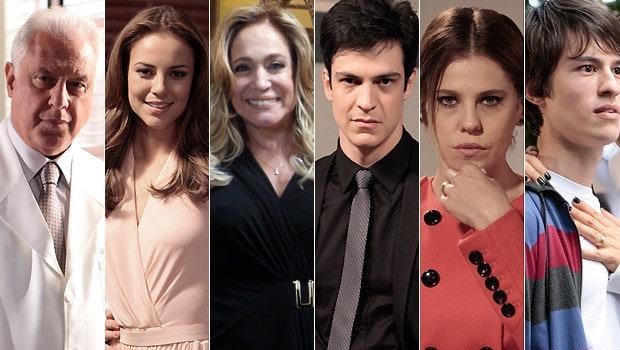"Alguns personagens de ""Amor à Vida"""