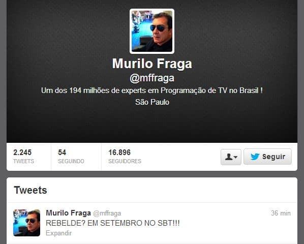 """Anúncio da volta de """"Rebelde"""" foi feito por Murilo Fraga"""