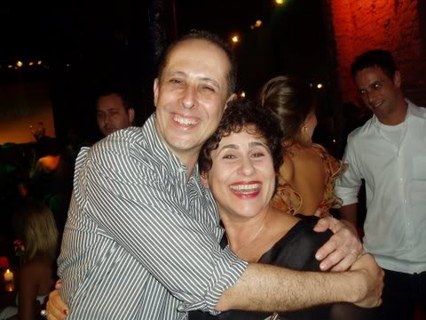 Júlio Fischer com a autora Duca Rachid