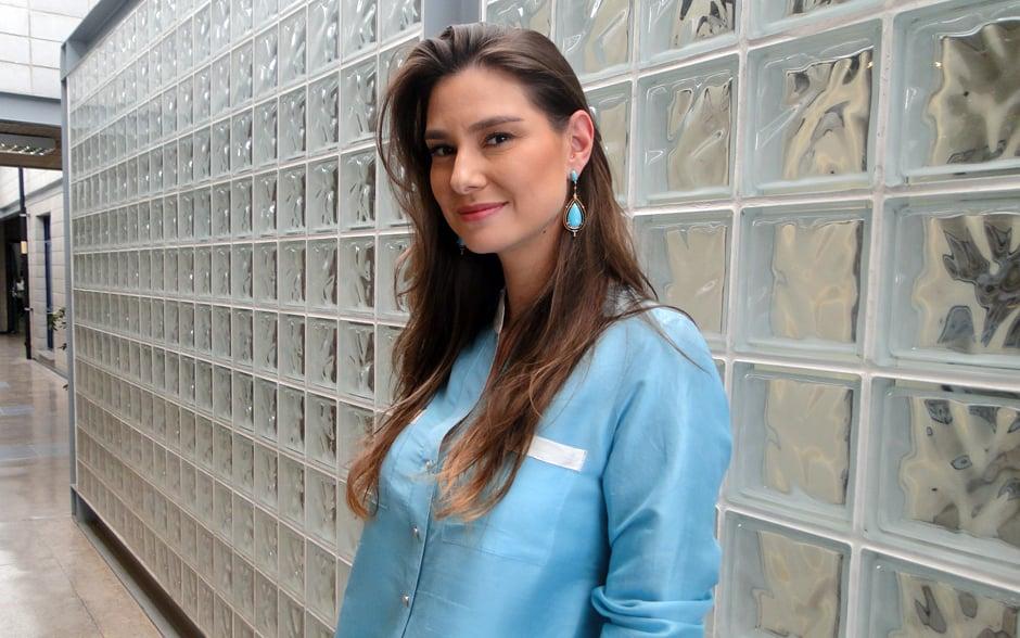 A atriz Lavínia Vlasak