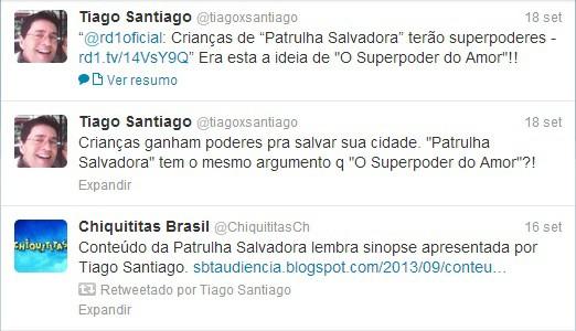 Os tweets de Tiago