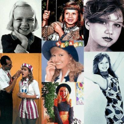De modelo infantil ao início da carreia como apresentadora