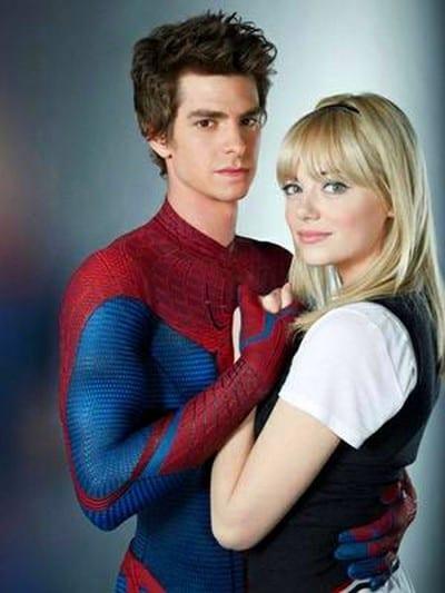 Emma Stone e Andrew Garfield em O Espetacular Homem-Aranha