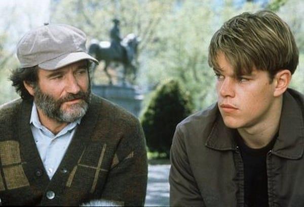 "Matt Damon e Robin Williams protagonizaram ""Gênio Indomável"""