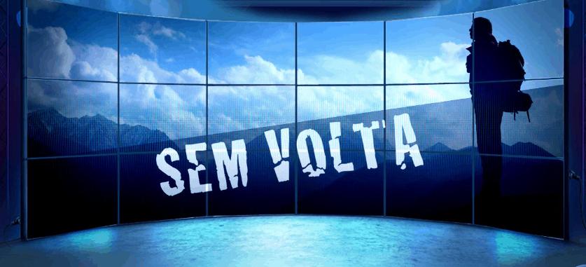 """Possível logo de """"Sem Volta"""", série da Record"""