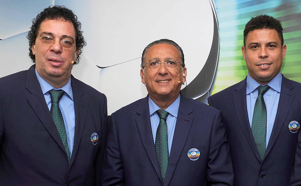 Walter Casagrande, Galvão Bueno e Ronaldo Nazário