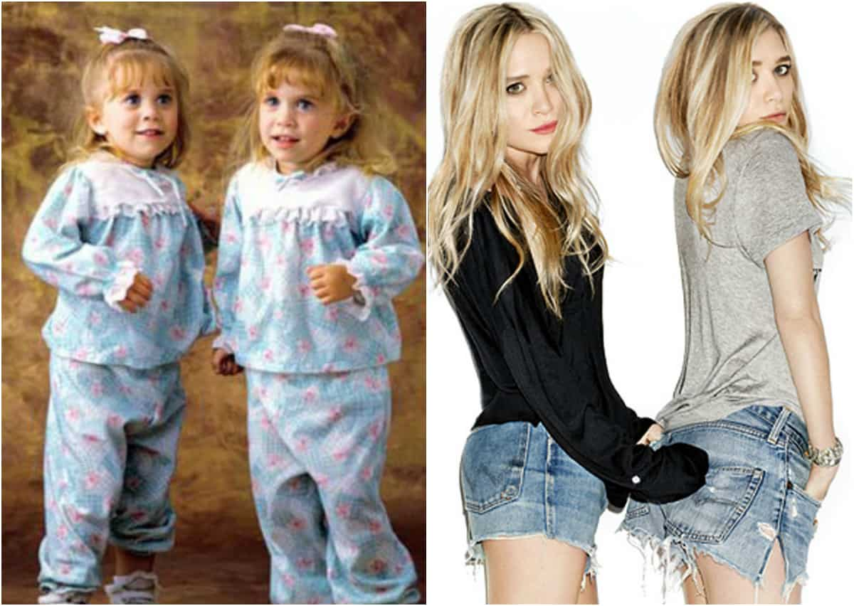 As gêmeas Olsen mudaram muito ao longo dos anos