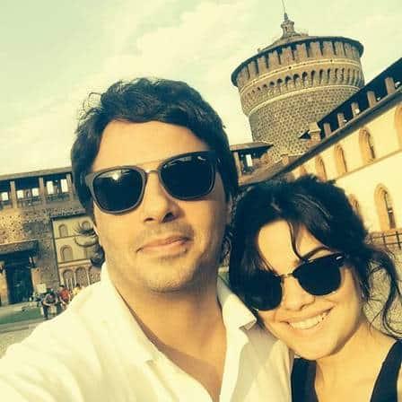 Vanessa Giácomo e o marido