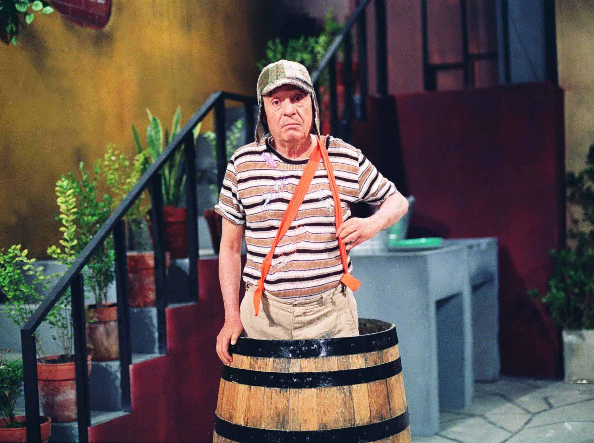 Chaves não morava no barril