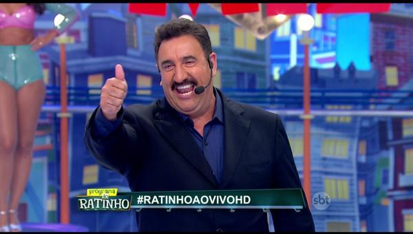 Ratinho comemorou sua estreia no HD