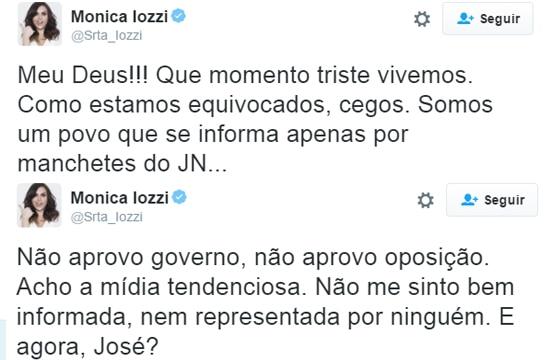 Iozzi criticou os protestos no Brasil e a imprensa