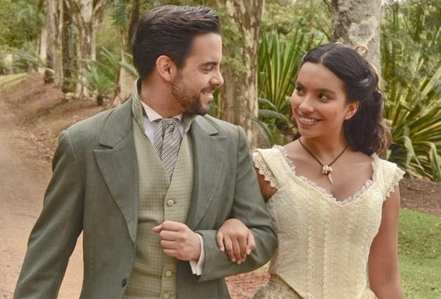 """Miguel e Juliana formam casal e lutam contra preconceito em """"Escrava Mãe"""""""