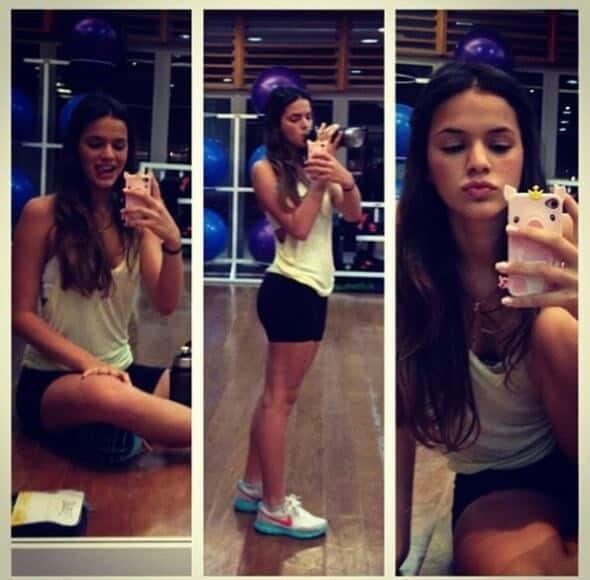 Bruna Marquezine mostra rotina de exercícios para os fãs