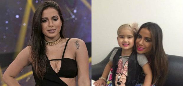Anitta surpreende fã com câncer durante apresentação em Minas Gerais