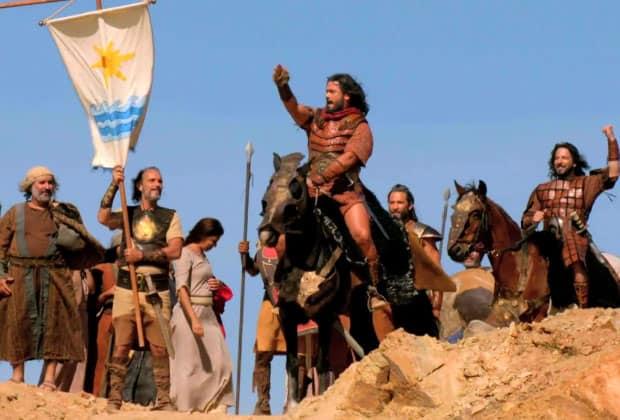 Josué e as 12 tribos de Israel seguem pelo Rio Jordão
