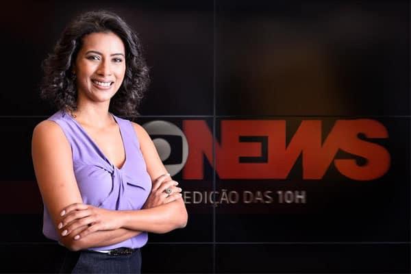 """Ex-Band, Aline Midlej passa a comandar o """"Edição das 10"""" da Globo News"""