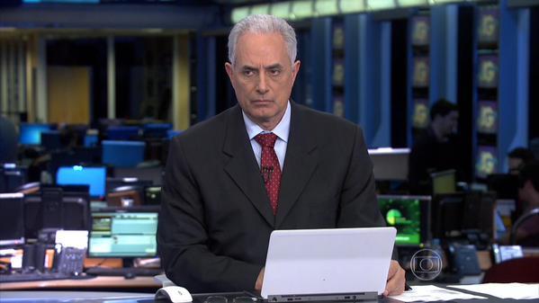 """William Waack segue afastado do """"Jornal da Globo"""" por tempo indeterminado; Renata Lo Prete assume telejornal"""