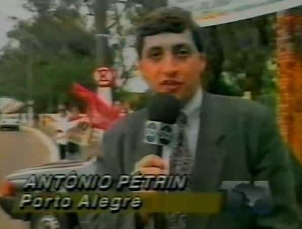 "Antonio Pétrin, hoje na Band, em matéria para o ""TJ Brasil""."