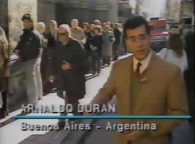 """Arnaldo Duran em matéria internacional para o """"TJ Brasil""""."""