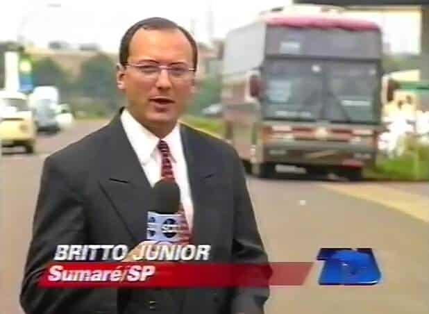 """Britto Jr então no """"TJ Brasil"""", em 1996."""
