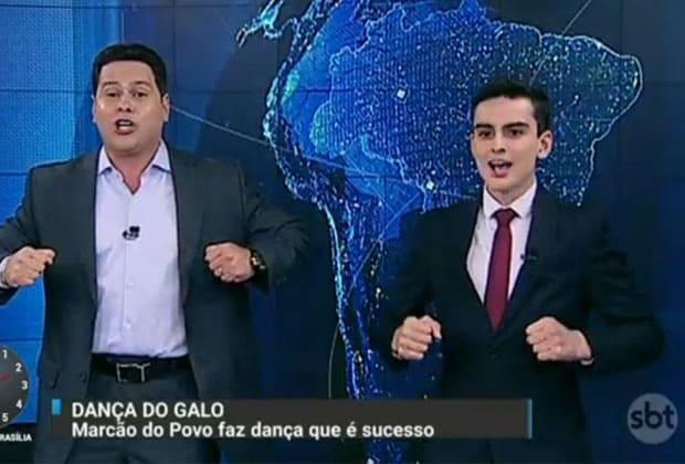 Rinha de galo: Dudu Camargo e Marcão do Povo se estranham nos bastidores do SBT.