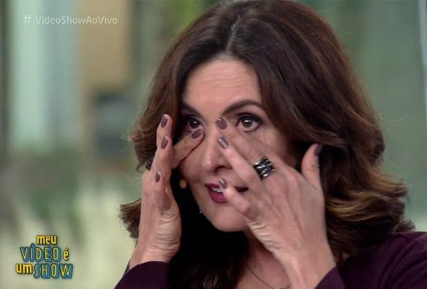 """Fátima Bernardes se emociona com homenagem do """"Vídeo Show"""""""