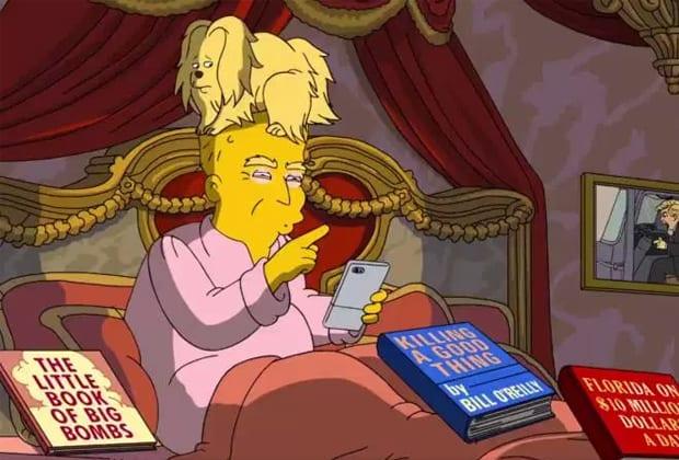 """""""Os Simpsons"""" volta a ironizar Donald Trump episódio; veja"""
