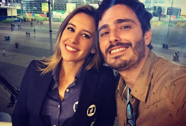 """Thiago Rodrigues nega barraco com Cris Dias na porta da Globo: """"Não durou 20 segundos"""""""