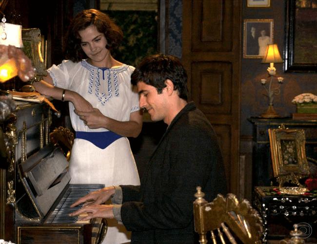 Ana Paula Arósio e Reynaldo Gianecchini como o casal em desacerto Camille e Tony.