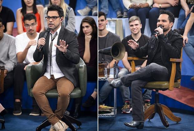 """No """"Altas Horas"""", Luciano alfineta e Zezé Di Camargo revela que brochou aos 16 anos: """"Depois nunca mais"""""""