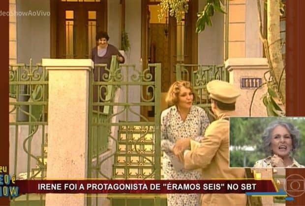 """""""Vídeo Show"""" exibe novamente imagens de novela do SBT ao vivo"""