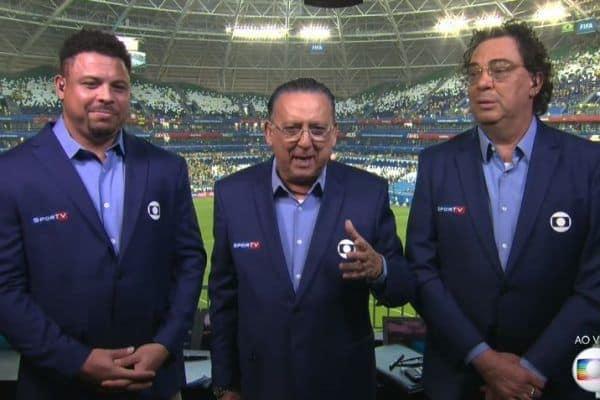 Galvão Bueno detona visual antigo de Ronaldo e vira assunto em transmissão de jogo