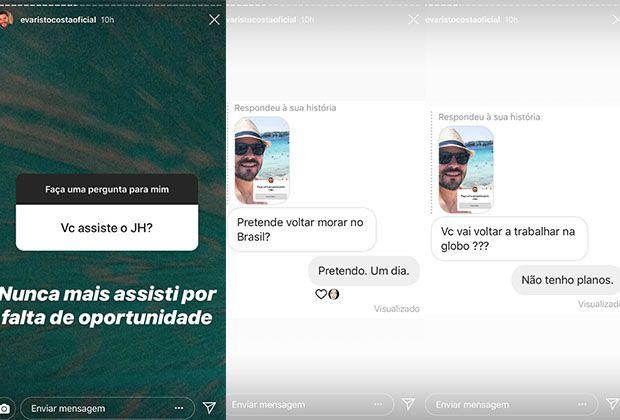 """""""Nunca mais assisti"""", revela Evaristo Costa sobre """"Jornal Hoje"""""""