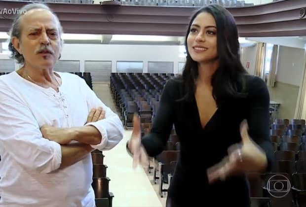 Carol Castro falou sobre início da carreira e como seu pai foi inspiração. (Imagem: Reprodução/ TV Globo)