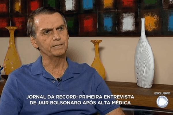 Eleito presidente, Bolsonaro dará primeira entrevista exclusiva para Record
