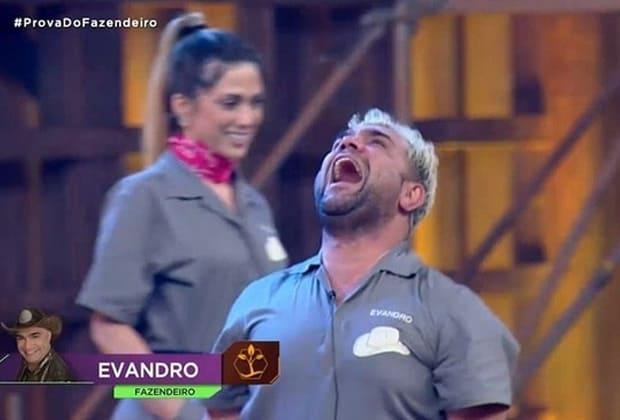 """""""A Fazenda 10"""": Evandro Santo vence prova e rivais Ana Paula e Nadja disputam roça"""