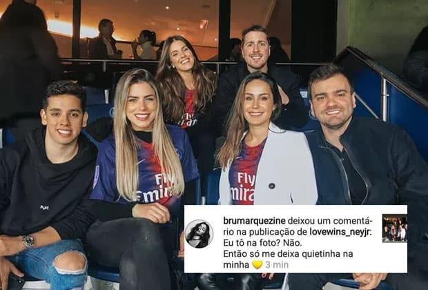 Bruna Marquezine se irrita ao ser marcada em foto de amigas de Neymar