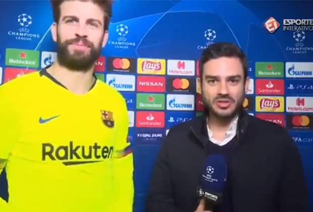 Marcelo Bechler surpreendeu Gerard Piqué em entrevista. (Imagem: Reprodução)