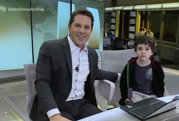 """Dony De Nuccio emociona web após se encontrar com """"jornalista mirim"""""""