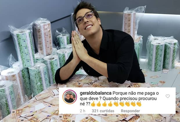 Geraldo Luís causa ao cobrar dívida de Fábio Porchat em rede social