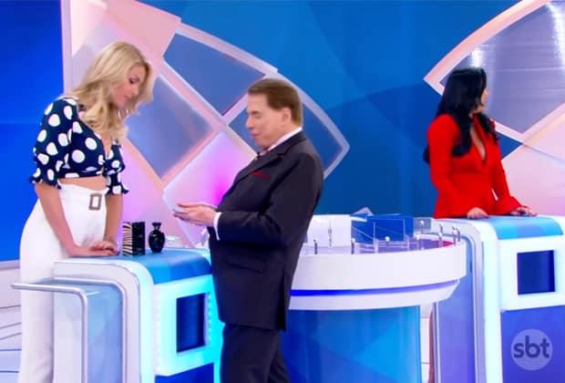 Silvio Santos causou com pergunta sobre sexo para Ana Hickmann (Imagem   Reprodução   SBT) bcaebe1bf3