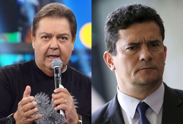 Faustão e Sergio Moro