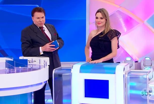 Silvio Santos e Rachel Sheherazade