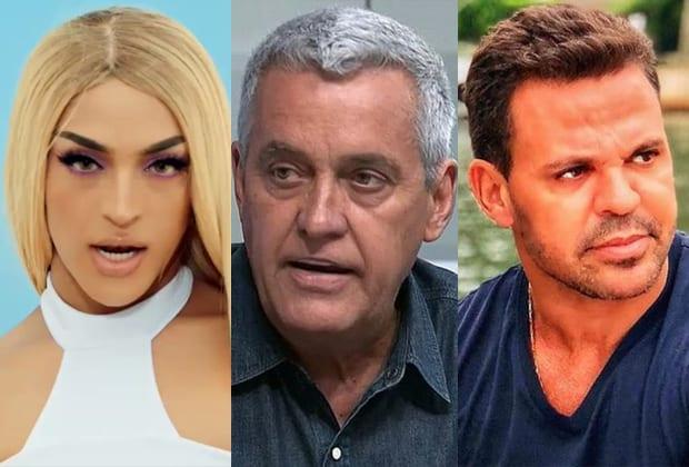 Pabllo Vittar, Mauro Naves e Eduardo Costa