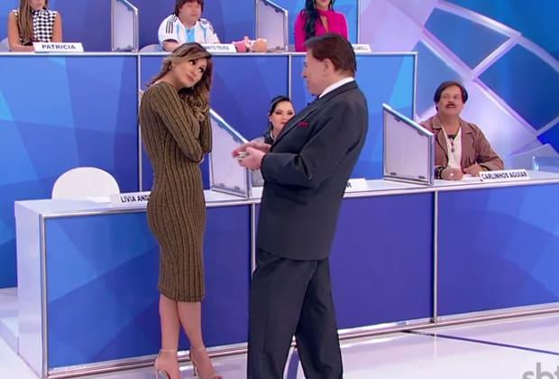 Silvio Santos, Lívia Andrade, Fontenelle e Marchiori