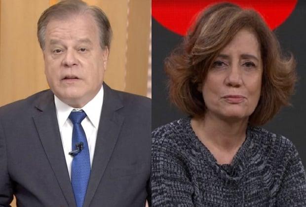 Chico Pinheiro e Miriam Leitão
