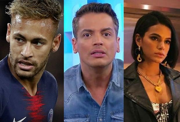 Neymar, Leo Dias e Bruna Marquezine